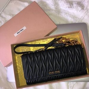 Brand New Miu Miu Black Wallet on Chain